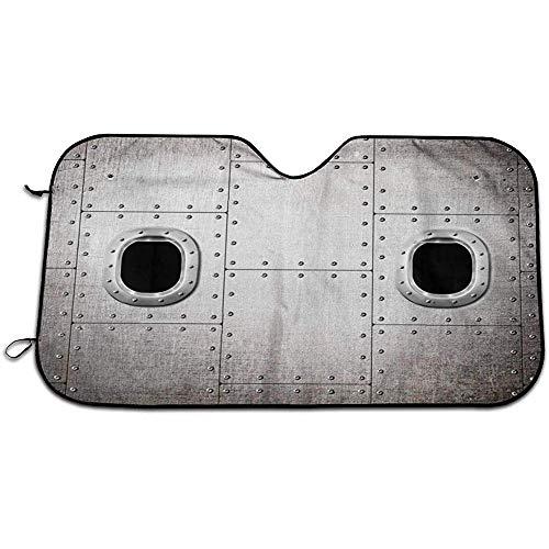 Beth-D Vliegtuig Ramen Sluit de Deur Voorruit Schaduw Hittebestendige & UV Stralen Bescherm Auto Raam Schaduw Dikke Aluminium Zonwering Cover voor SUV's RVs 147X118CM