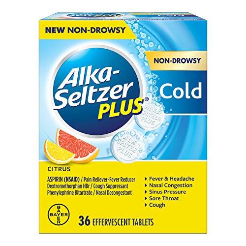 Alka-Seltzer Plus Non-drowsy Cold Citrus effervescent Tablets, Citrus, 36 Count