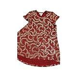 Lularoe Kids Scarlett Geometric Elegant Collection Deep Red Gold Polka Dot Swing Dress Size 2 fits Kids 2T-4