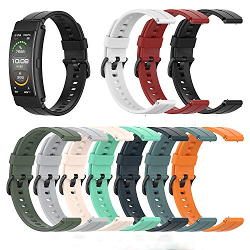 Angersi Correa Compatible con Huawei TalkBand B6/B3 Correa de Reloj,Silicona Suave Sport Correa Reemplazo Pulsera para Huawei TalkBand B6/B3 Reloj Inteligente de Fitness