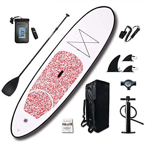 Tabla De Sup Stand Up Paddle 10 '305X76x15cm Tablas Inflables para Remo De Pie hasta 120KG Paleta De Aluminio para Remo Mochila De Bomba De Alta Presión