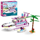 BRICK STORY Dream Girls Friends Cruise Ship Building Toys Creative Yacht Building Sets 318 Pieces Girls Boat Building Kit Gift for Kids Age 6-12