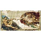 Legendarte Cuadro Lienzo, Impresión Digital - La Creación De Adán - Michelangelo Buonarroti cm. 50x100 - Decoración Pared