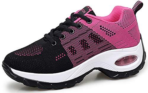 2020 Zapatos cuña Mujer Zapatillas de Deportivas Plataforma Mocasines Primavera Verano Planas Ligero Tacon Sneakers Cómodos Zapatos para Mujer Negro Gris Blanco ⭐