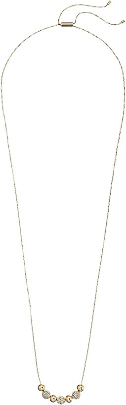 Brilliance Pavé Beaded Adjustable Slider Necklace