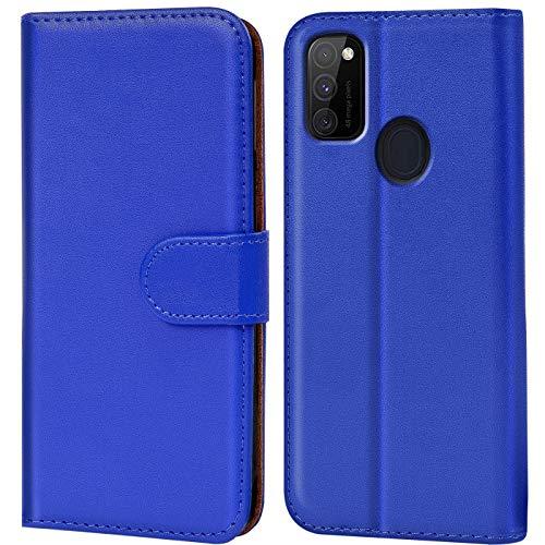CoolGadget Klapphülle kompatibel mit Samsung Galaxy M30s / M21 Tasche, 360 Grad R&umschutz Robustes Etui aus Kunstleder, Galaxy M30s / M21 Schutz Hülle - Blau