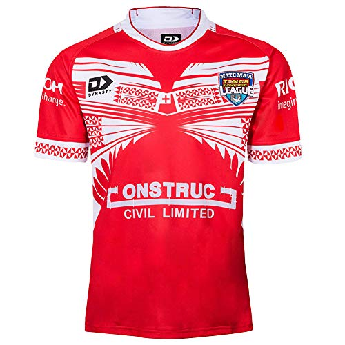 19 Japan WM Fußball Trikot Tonga zu Hause Rugby Trikot Strickweste Laufanzug Sweatshirt T-Shirt Kleidung Atmungsaktives aktives Sweatshirt Professional-red3-L
