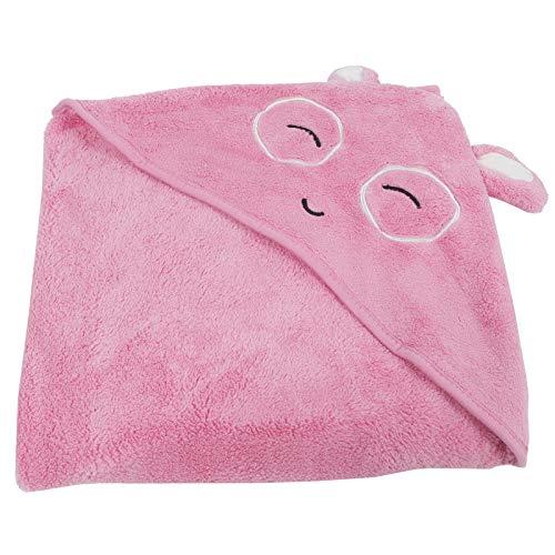 Zachtste Babybadje Washandjes Kids Hooded Badhanddoek Coral Fleece Badhanddoek voor Jongens Meisjes Baby Peuters Veeg levert(Roze)