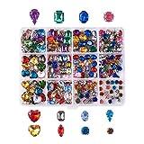 Cheriswelry 220 piedras de imitación para coser con engaste de puntas plateadas de cristal acrílico de colores mezclados para manualidades, ropa de vestir, zapatos y bolsas de decoración