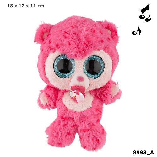 Depesche 8993 - Plüschtier Ylvi und die Minimoomis, 18 cm, Baby Rosa