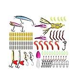 Cebo de Pesca 115 Cebo Cebo Kits Kits, Mejores cebos de Agua, Incluyendo la Rana del Trueno, Bionic Suave Insectos, lombriz de Tierra, Gusano, camarón Suave y Otros cebos Cebo Artificial