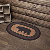 VHC Brands Rustic & Lodge Flooring - Wyatt Tan Bear Oval Jute Rug, 20x30