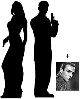 Secret Agent Male / Female - Silhouette Double Pack - Lifesize Cardboard Cutout / Standee / Standup - Includes 8x10 (20x25cm) Star Photo