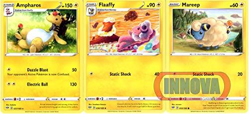 Pokemon Evolution Set - Ampharos 57/189 - Darkness Ablaze Sword & Shield - Rare Card Lot