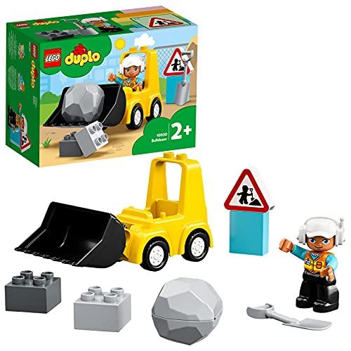 LEGO DuploTown Bulldozer, Set con Macchinina da Costruzione per Bimbi dai 2 Anni in su, 10930