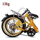 Grimk 20 Pulgadas Plegable De Aluminio Bicicleta De Paseo Mujer Bici Plegable Adulto Ligera Unisex Folding Bike Manillar Y...
