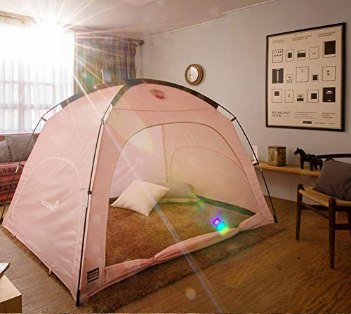 DDASUMI Warm Tent for Single Bed (Mint) - Cold air Blocking, Privacy, Play Indoor Tent