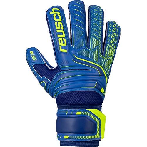 Reusch Herren Attrakt Sg Extra Finger Support Torwarthandschuhe, deep Blue/Safety Yellow/deep Blue, 8.5