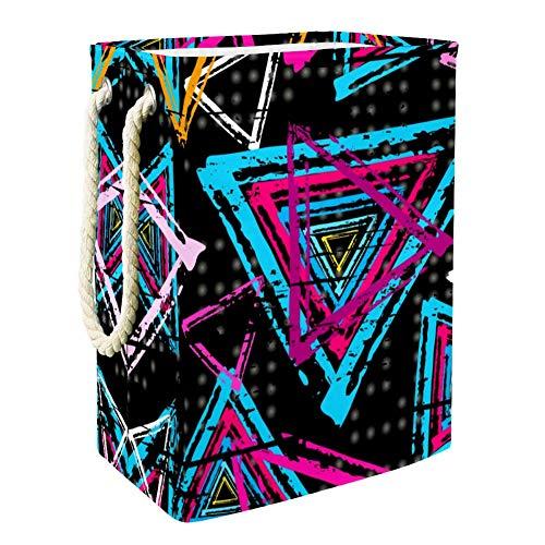 TIZORAX farbige dreieckige Form, zusammenklappbar, Wäschekorb, Aufbewahrungskorb für Badezimmer, Schlafzimmer, Spielzeug, Kleidung, Organizer