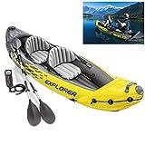 Barca Hinchable Inflable Challenger Kayak PVC Duradero Canoa Inflable con Remos de Aluminio Y Bomba Manual Gran Opción para Los de La Pesca o Los Deportes Al Aire Libre