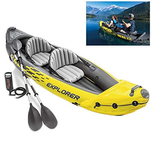 LTLWL Aufblasbares Schlauchboot Challenger Kayak Aufblasbares Kanu Mit Aluminiumrudern und Handpumpe Langlebiges PVC Schlauchboot Gute Wahl für Angler Oder Outdoorsportl