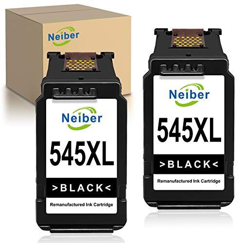 Neiber Wiederaufbereitet Tintenpatronen Kompatibel für Canon PG545XL 545XL für Canon Pixma TS3150 3151 205 305 MG2555S 3050 2550 2550S MX495 TR4550 Ip2850(2xSchwarz)