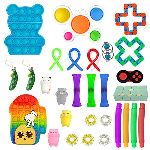 AOVRO Fidget Toys Set Fidget Packs Stress Relief and Anti-Anxiety Toys Bundle for Kids&Man or...