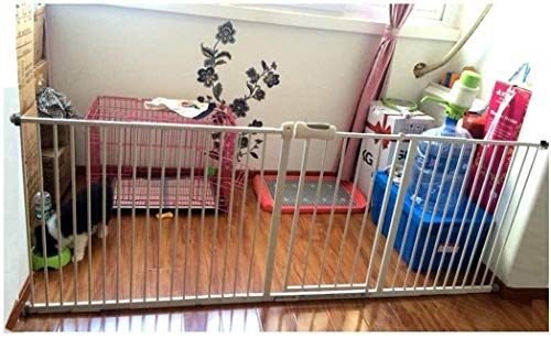 Lanrui Pressure Fit Safety Metal Gate Stands 78cm tall Width Adjustable 58-274cm Extra Wide Pet Gate baby gate Garden Guardrail withExtensions Available (Color : High78cm, Size : 145-154cm)