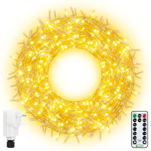 Ollny Fairy Lights 20m 200 LED Warm White Plug in,...