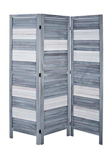HAKU Möbel Paravent, Metall, grau-weiß, 120 x 6 x 170