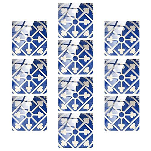 GARNECK 10Pcs Pelar Y Pegar Azulejos Pegatinas de Azulejos de Flores Pegar en La Cocina Backsplash Wallpaper para Dormitorio Baño Oficina Cocina Backsplash Decoraciones de Pared M