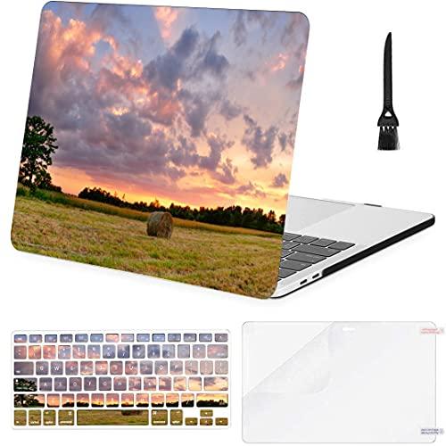 Carcasa Dura de plástico con Cubierta de Teclado para Macbook Pro 2016 Estuche Beautiful Sunset At The Farm Compatible con Macbook Air 11