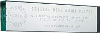 Desk Name Plate - Engraved Crystal - 8