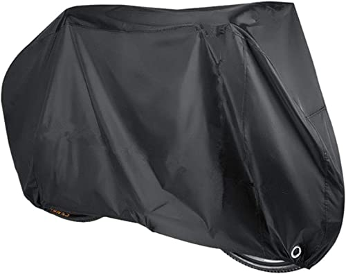 SKEIDO Bike Cover Oxford Fabric Waterproof Bicycle Cover with Lock Holes, Outdoor Bicycle Rain Cover UV Protection fo...