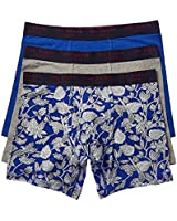 Ted Baker Men's Underwear Stretch Cotton Boxer Briefs, 3 Pack, Dazzling Blue/Ava/Heather Grey, S