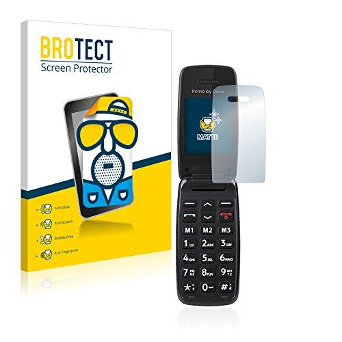 BROTECT 2X Entspiegelungs-Schutzfolie kompatibel mit Doro Primo 401 Bildschirmschutz-Folie Matt, Anti-Reflex, Anti-Fingerprint