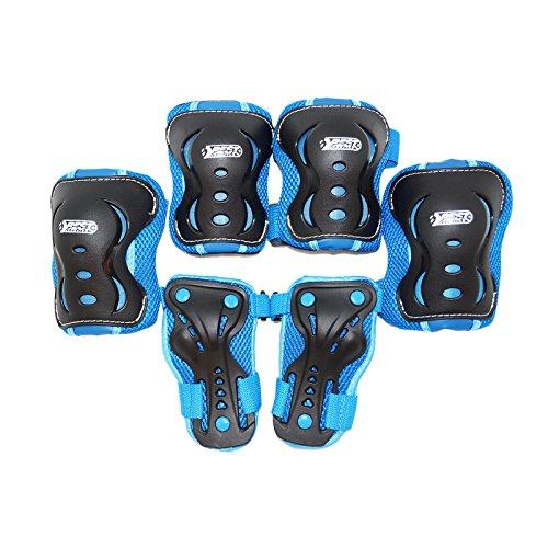Best Sport- Equipement de Protection pour Enfants, 30275, Bleu/Noir, Taille XS/S