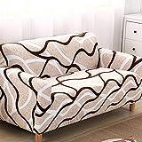 Funda Sofas 2 y 3 Plazas Onda Fundas para Sofa con Diseño Elegante ,Cubre Sofa Ajustables,Fundas Sofa Elasticas,Funda de Sofa Chaise Longue,Protector Cubierta para Sofá