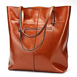 """Covelin Womens Handbag Genuine Leather Tote Shoulder Bags Soft Hot"""