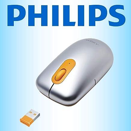 Philips - Mouse ottico wireless USB 2,4 Gz per computer portatili, PC, Mac, notebook, netbook, compatto Nano Dongle con avviso di batteria scarica, colore: Argento/Giallo - Trova i prezzi più bassi
