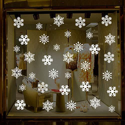 Partij Sneeuwvlok Elektrostatische Sticker Venster Kinderkamer Kerst Muurstickers Thuis Decals Decoratie Nieuwe Jaar Behang 30X45Cm