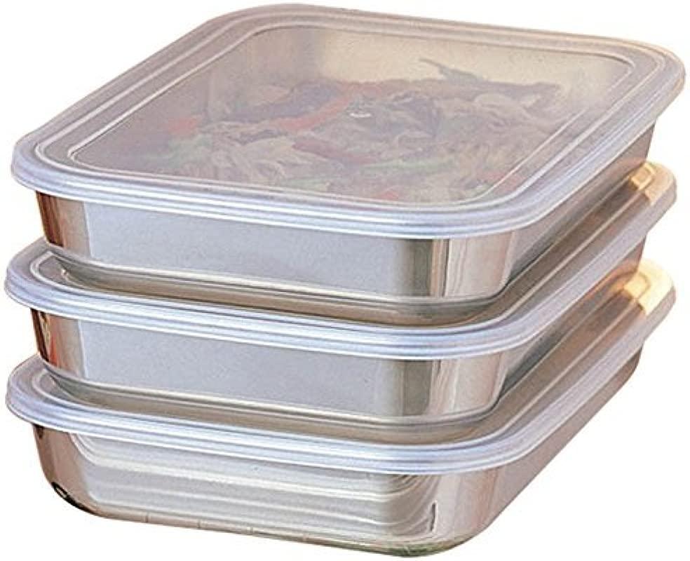 UchiCook 3 Piece Breading Trays Silver