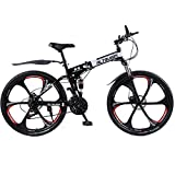 Altruism X9 Folding Bicycles for Mens 21/24 Speed 26 Inch Aluminum Road Bicycle Mountain Bike Downhill White Black Ce Rohs (Black, Aluminum 24 Speed 26 inch)