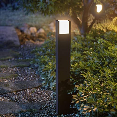Philips Hue White Fuzo padverlichting, zwart | Outdoor vloerlamp voor buiten, dimbaar, bestuurbaar via app, smartphone, tablet, taal (Hue Bridge vereist)