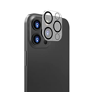 KENBU compatible with 2pcs Camera Lens Protector iPhone 12 Pro max,With blackout coil,Ultra Clear Thin Tempered Glass,Case Friendly, Camera Lens Cover Full Scratch Protection (For 12 Pro Max(6.7inch))