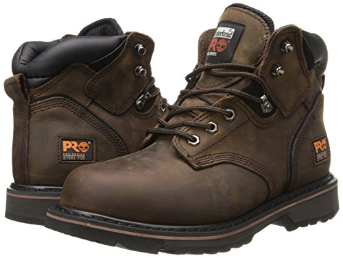 "Timberland PRO Men's Pitboss 6"" Steel-Toe Boot, Brown , 11 D - Medium"