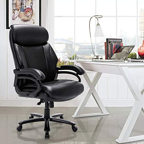 STARSPACE Big & Tall Leather Office Chair