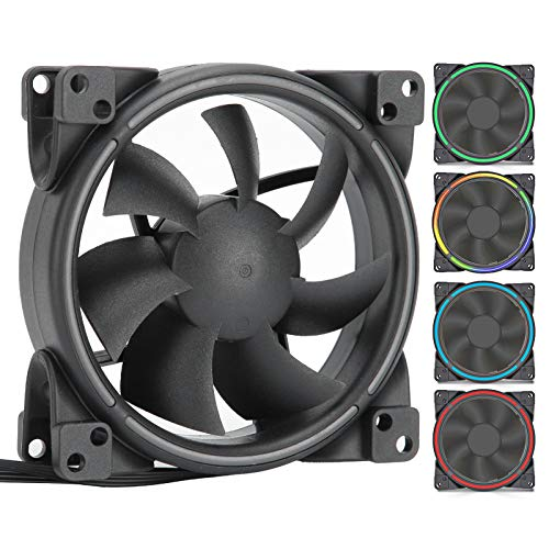 Ventilador de Refrigeración de Caja de PC, Radiador de Ventilador de Chasis PWM 4Pin DRGB Enfriador de PC de Refrigeración 5V Sincronización de Placa Base 8cm