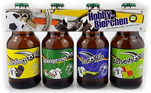 Fußball Pils Bier im 4er Set im Hobby Träger Clip 1. Halbzeit