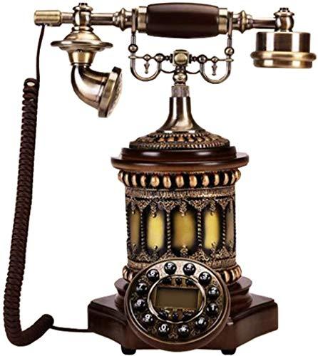 LLKK JNYTD - Teléfono clásico antiguo, resina, diseño retro de resina de madera maciza